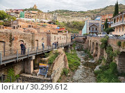 Abanotubani Sulfur Baths district of Tbilisi (2018 год). Редакционное фото, фотограф Юлия Бабкина / Фотобанк Лори