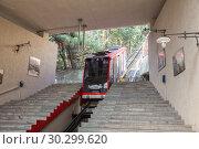 Купить «Funicular Mtatsminda, Tbilisi», фото № 30299620, снято 2 октября 2018 г. (c) Юлия Бабкина / Фотобанк Лори