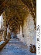 Купить «Inner court of Cathedral of Saints Nazaire, Beziers», фото № 30300260, снято 1 декабря 2017 г. (c) Яков Филимонов / Фотобанк Лори
