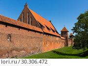 Купить «Castle of Teutonic Order in Malbork, Poland», фото № 30306472, снято 13 мая 2018 г. (c) Яков Филимонов / Фотобанк Лори