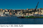 Купить «Panorama of Old Port of Genoa with floating crane», фото № 30306520, снято 4 декабря 2017 г. (c) Яков Филимонов / Фотобанк Лори