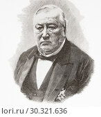 "Купить «Daniel Bernard Weisweiller, 1814 â. "" 1892. German-born Spanish banker, an agent of Rothschild banking house in Madrid. From La Ilustracion Espanola y Americana, published 1892.», фото № 30321636, снято 10 января 2019 г. (c) age Fotostock / Фотобанк Лори"