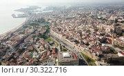 Купить «Aerial view of the spanish city of Tarragona. Spain», видеоролик № 30322716, снято 17 января 2019 г. (c) Яков Филимонов / Фотобанк Лори