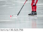 Хоккей с мячом. Бенди (2019 год). Стоковое фото, фотограф Яковлев Сергей / Фотобанк Лори
