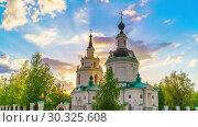 Купить «Orthodox church at sunset», видеоролик № 30325608, снято 14 марта 2019 г. (c) Sergey Borisov / Фотобанк Лори