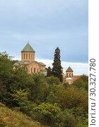 Купить «Ancient Gelati Monastery on a hill near Kutaisi in Georgia», фото № 30327780, снято 26 сентября 2018 г. (c) Юлия Бабкина / Фотобанк Лори