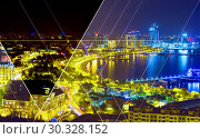 Купить «Night view of the city of Baku - the capital of the Republic of Azerbaijan», фото № 30328152, снято 23 сентября 2015 г. (c) Евгений Ткачёв / Фотобанк Лори
