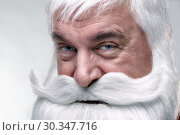 Close-up of the face of a Santa Claus. Стоковое фото, фотограф Serg Zastavkin / Фотобанк Лори