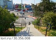 Brankova street in Belgrade (2018 год). Редакционное фото, фотограф Константин Гуща / Фотобанк Лори