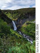 Купить «Красивый водопад летом», фото № 30366884, снято 12 сентября 2013 г. (c) А. А. Пирагис / Фотобанк Лори