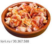 Купить «Spanish tapas - pig ears with paprika», фото № 30367588, снято 22 марта 2019 г. (c) Яков Филимонов / Фотобанк Лори