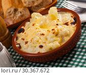 Купить «Appetizing cauliflower and cheese casserole for breakfast», фото № 30367672, снято 20 мая 2019 г. (c) Яков Филимонов / Фотобанк Лори
