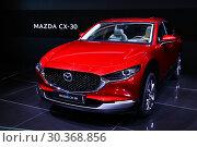 Купить «Mazda CX-30», фото № 30368856, снято 10 марта 2019 г. (c) Art Konovalov / Фотобанк Лори