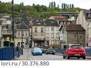 Купить «France, Lorraine, Hayange - structurally weak city, elected 2014 Front National politician Mayor», фото № 30376880, снято 2 мая 2018 г. (c) Caro Photoagency / Фотобанк Лори