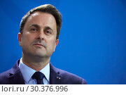 Berlin, Germany - Xavier Bettel, Minister of State of the Grand Duchy of Luxembourg. (2019 год). Редакционное фото, агентство Caro Photoagency / Фотобанк Лори