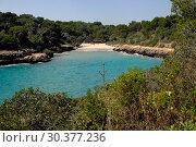 Spain, Mallorca- Cala Sa Nau Bay (2017 год). Редакционное фото, агентство Caro Photoagency / Фотобанк Лори
