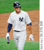 Купить «The New York Mets take on The New York Yankees during game one of the 2017 Subway Series at Yankee Stadium Featuring: Aaron Judge Where: Bronx, New York...», фото № 30379308, снято 14 августа 2017 г. (c) age Fotostock / Фотобанк Лори