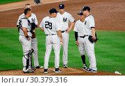 Купить «The New York Mets take on The New York Yankees during game one of the 2017 Subway Series at Yankee Stadium Featuring: Joe Girardi Where: Bronx, New York...», фото № 30379316, снято 14 августа 2017 г. (c) age Fotostock / Фотобанк Лори