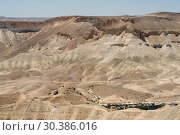 Picturesque views of Ein Avdat and Zin Valley. Negev, desert and semidesert region of southern Israel. Summer (2018 год). Стоковое фото, фотограф Валерия Попова / Фотобанк Лори