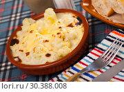 Купить «Appetizing cauliflower and cheese casserole for breakfast», фото № 30388008, снято 15 июня 2019 г. (c) Яков Филимонов / Фотобанк Лори