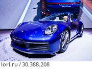 Купить «Porsche 911 Carrera 4S», фото № 30388208, снято 10 марта 2019 г. (c) Art Konovalov / Фотобанк Лори