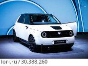 Купить «Honda e Prototype», фото № 30388260, снято 10 марта 2019 г. (c) Art Konovalov / Фотобанк Лори
