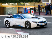 BMW i8 (2019 год). Редакционное фото, фотограф Art Konovalov / Фотобанк Лори