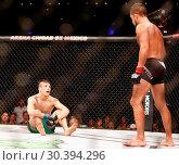 Brandon Moreno takes on Sergio Pettis during the UFC Fight Night ... (2017 год). Редакционное фото, фотограф WENN.com / age Fotostock / Фотобанк Лори