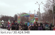 Купить «Celebration of St. Patrick's Day in Moscow Park Sokolniki.», видеоролик № 30424948, снято 16 марта 2019 г. (c) Андрей Радченко / Фотобанк Лори