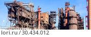 """Купить «JSC """"Satkinsky iron foundry"""". Old factory in Satka», фото № 30434012, снято 18 октября 2012 г. (c) Акиньшин Владимир / Фотобанк Лори"""