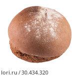 Купить «Ржаной хлеб, посыпанный мукой на белом фоне», фото № 30434320, снято 15 марта 2019 г. (c) Румянцева Наталия / Фотобанк Лори