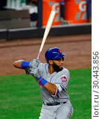 Купить «The New York Yankees take on the New York Mets during game 2 of the 2017 Subway Series at Yankee Stadium Featuring: Amed Rosario Where: Bronx, New York...», фото № 30443856, снято 15 августа 2017 г. (c) age Fotostock / Фотобанк Лори