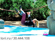 Nikki Lund has an intense workout and looks in great shape after ... (2017 год). Редакционное фото, фотограф WENN.com / age Fotostock / Фотобанк Лори