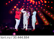 Купить «Boyz II Men performing on stage during The Total Package Tour at Hard Rock Live at the Seminole Hard Rock Hotel & Casino Hollywood in Fort Lauderdale,...», фото № 30444884, снято 17 июля 2017 г. (c) age Fotostock / Фотобанк Лори
