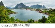 Summer village Reine (Lofoten, Norway). (2013 год). Стоковое фото, фотограф Юрий Брыкайло / Фотобанк Лори