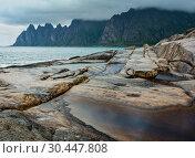 Купить «Summer Senja coast (Jagged Ersfjord, Norway, polar )», фото № 30447808, снято 10 июля 2013 г. (c) Юрий Брыкайло / Фотобанк Лори