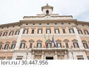 Палаццо Монтечиторио (Palazzo Montecitorio). Рим. Италия (2018 год). Стоковое фото, фотограф E. O. / Фотобанк Лори