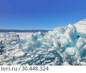 Купить «Transparent ice hummocks on Lake Baikal, Eastern Siberia, Russia», фото № 30448324, снято 16 марта 2019 г. (c) Наталья Волкова / Фотобанк Лори