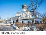 Купить «Успенская церковь во Пскове Assumption Church in Pskov», фото № 30450388, снято 16 февраля 2019 г. (c) Baturina Yuliya / Фотобанк Лори