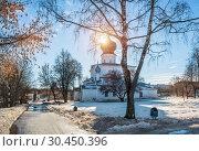 Купить «Успенская церковь и весеннее солнце Assumption Church in Pskov», фото № 30450396, снято 16 февраля 2019 г. (c) Baturina Yuliya / Фотобанк Лори