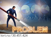 Купить «Businessman successfully dealing with problems», фото № 30451424, снято 26 мая 2020 г. (c) Elnur / Фотобанк Лори