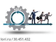 Businessman in agile methods concept. Стоковое фото, фотограф Elnur / Фотобанк Лори