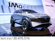 Купить «Nissan IMQ», фото № 30476516, снято 10 марта 2019 г. (c) Art Konovalov / Фотобанк Лори