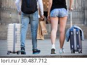 Купить «Couple going the historic city center», фото № 30487712, снято 25 мая 2017 г. (c) Яков Филимонов / Фотобанк Лори
