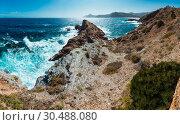 Купить «Summer rocky coast (Costa Blanca, Spain).», фото № 30488080, снято 8 июля 2020 г. (c) Юрий Брыкайло / Фотобанк Лори