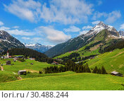 Alpine view (Vorarlberg, Austria) (2012 год). Стоковое фото, фотограф Юрий Брыкайло / Фотобанк Лори