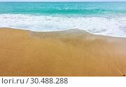 Купить «Sea and sandy beach», фото № 30488288, снято 19 марта 2019 г. (c) Роман Сигаев / Фотобанк Лори