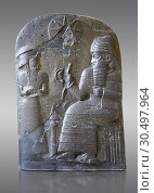 Купить «Basalt Babylonian sculpture usurped by an Elamite king. 12th cent. BC from Suse. Inv AO 30043, The Louvre Museum, Paris.», фото № 30497964, снято 25 мая 2019 г. (c) age Fotostock / Фотобанк Лори