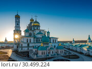 Купить «Resurrection Cathedral of the new Jerusalem monastery, Russia», фото № 30499224, снято 30 марта 2019 г. (c) photoff / Фотобанк Лори