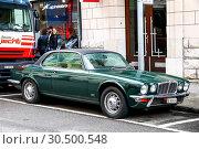 Купить «Jaguar XJ Coupe», фото № 30500548, снято 13 марта 2019 г. (c) Art Konovalov / Фотобанк Лори